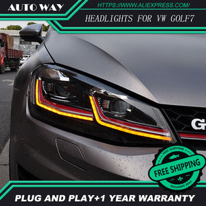 Image 2 - Car Styling H7 Head Lamp case for VW Golf7 Golf 7 Headlights Golf 7 MK7 2014 2015 LED Headlight DRL Lens Double Beam Bi Xenon