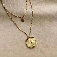Ms satış çift ayçiçeği kolye ışık kişilik fransız lüks klavikula zincir kazak zinciri