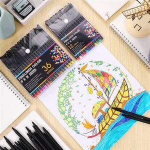 12 24 36 48 60 цветов 0,4 мм микрон Маркер ручки Fineliner цветная ручка Ассорти чернил на водной основе для живописи школы офиса искусства