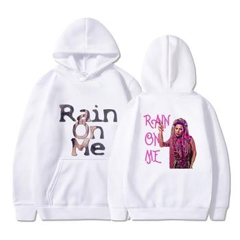Rain on Me Print Summer Hoodies Streetwear Women Men Casual Pullovers Korean Style Warm Loose Oversize Sweatshirts