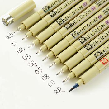 1 3 5 sztuk czarny długopis Pigma Micron wodoodporny ręcznie rysowane projekt szkic końcówka igłowa Fineline długopis dostaw tanie i dobre opinie Pojedyncze (AE存量)* 7 YHGXB Art marker Luźne
