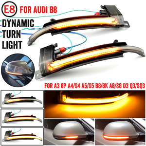 Dynamic Blinker Mirror Light for Audi A3 8P A4 A5 B8 Q3 A6 C6 4F S6 LED Turn Signal Side Indicator SQ3 A8 D3 8K
