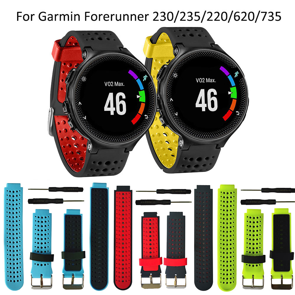 Soft Silicone Replacement Watch Band For Garmin Forerunner 230 235 220 620 630 735 Smartwatch Outdoor Sport Watchstrap