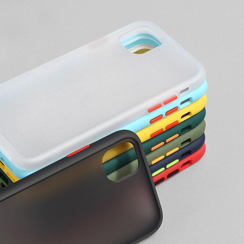 N1986N чехол для телефона для iPhone 11 Pro X XR XS Max 7 8 Plus роскошный контрастный цвет рамка Матовый Жесткий PC защитный чехол для iPhone 11 чехол