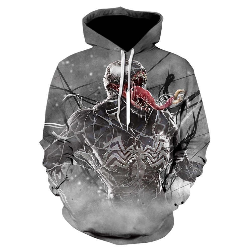 2019 3D druck venom Hoodie Sweatshirt Avenger spider man venom Cosplay kleidung männer mode Pullover männer/frauen der Hoodie