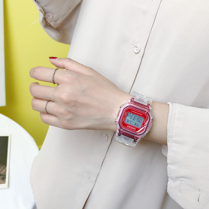 Image 5 - Fashion Men Women Watches Gold Casual Transparent Digital Sport Watch Lover's Gift Clock Waterproof Children Kid's Wristwatch-in Women's Watches from Watches