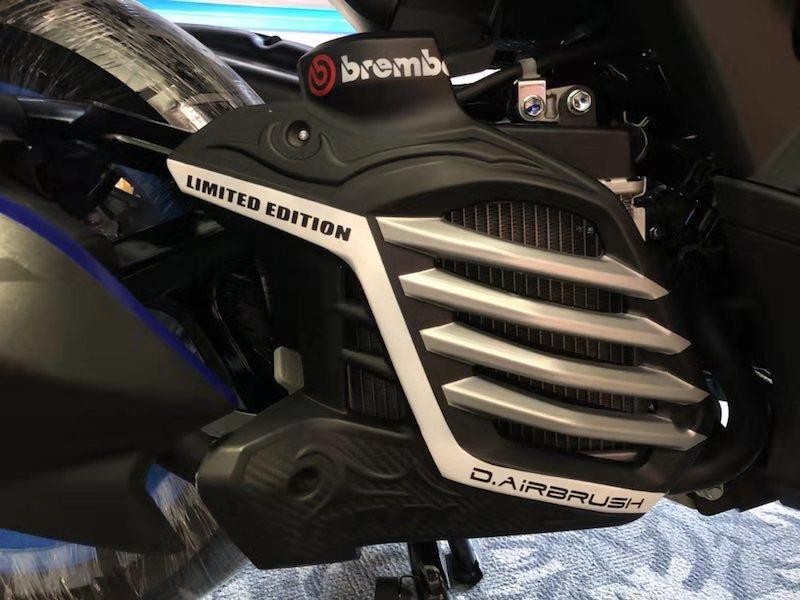 Модифицированный мотоцикл NVX aerox решетка радиатора бак для воды сетка решетка радиатора Защитная крышка для yamaha NVX155 DGR155 L155