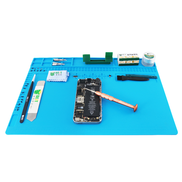 New 340*240mm Insulation Pad Heat-Resistant Silicon Soldering Mat BGA CPU Work Pad Desk Platform Solder Rework Repair Tool Mat