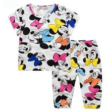 Ensemble pyjama Minnie pour enfants, vêtements pour bébés filles, Robes pour enfants, vêtements de maison, tenue d'été, 2021
