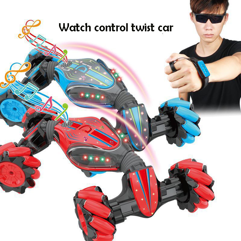 1:10 2.4G big RC Car with Mecanum Wheel 4WD Drift twisting watch Control Stunt Car dancing led music Offroad Vehicle Toy image