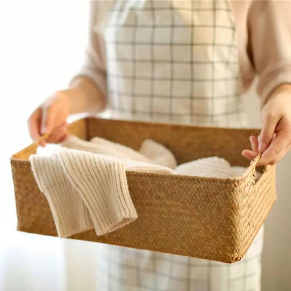 Прямоугольная корзина для хранения травы, контейнер для хранения, органайзер для всякой всячины