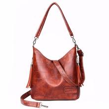 Luxury Handbags Women Bags Designer 2019 Female Leather Shoulder Bag Vintage Top handle Bags Vintage Casual Tote Bag Female New