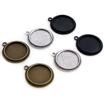 20pcs 16mm Inner Size Antique Bronze And Silver Plated Simple Style Cabochon Base Cameo Setting Charms Pendant 3pcs 18x25mm inner size antique silver brooch pin classic style cameo cabochon base setting c2 30