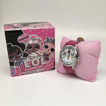 Силиконовые часы LOL surprise dolls lols, Детские кварцевые наручные часы случайного цвета, 1 шт., модные Мультяшные часы для девочек, Подарочная игруш...