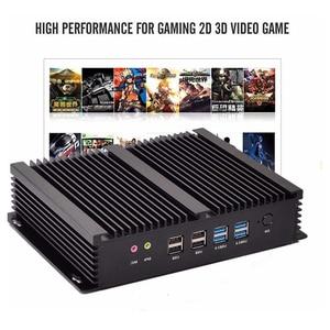 Image 4 - Fanless Industrial Mini PC Win10 Core i3 4010U i5 4200u i7 5550U 2*Intel Gigabit Lans 6*RS232 8*USB Micro Computer 2*HDMI