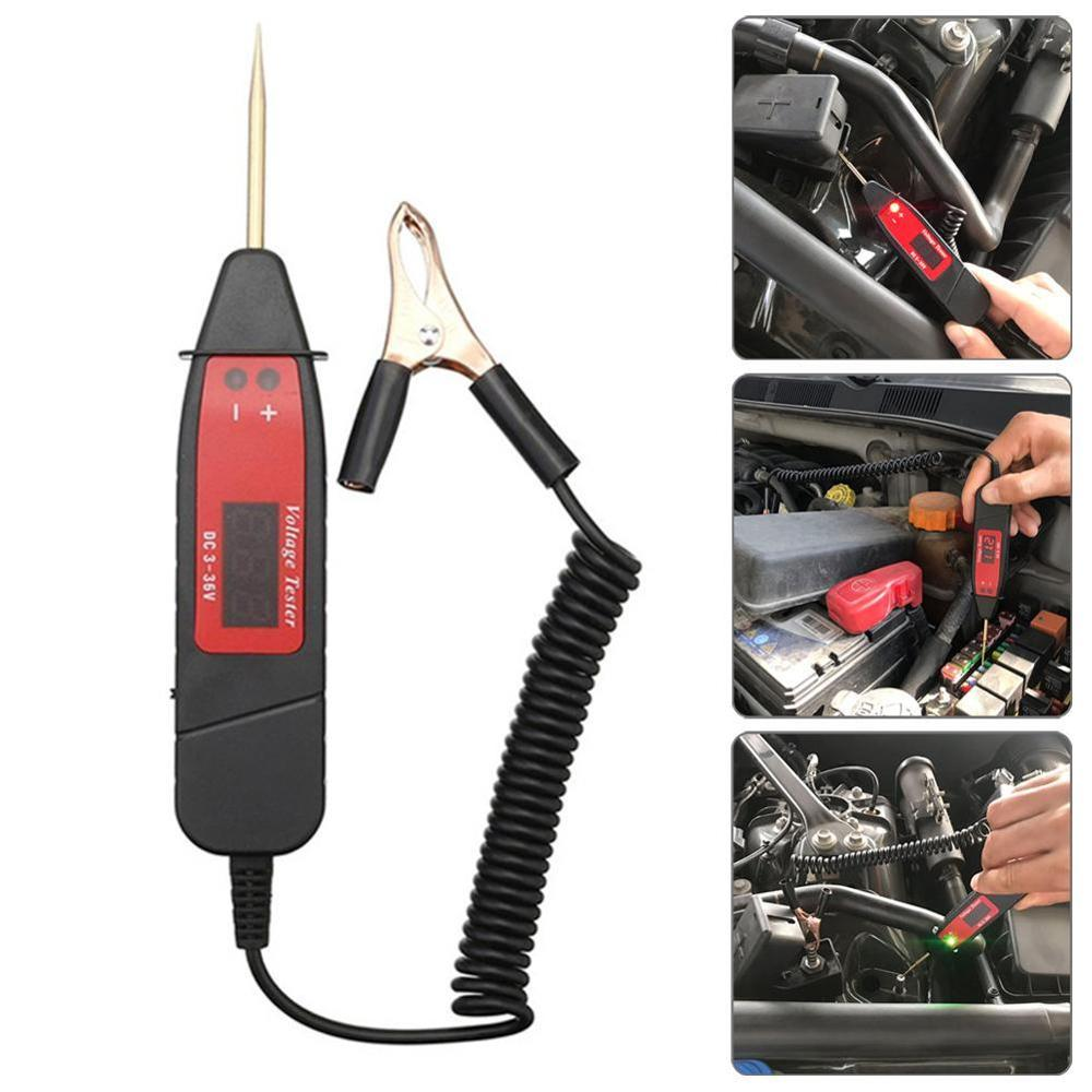 Universal 5-36V LCD Digital Circuit Tester Voltage Meter Pen Car Circuit Scanner Power Probe Automotive Diagnostic Tool