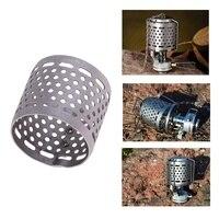 금속 메쉬 전등 갓 야외 캠핑 하이킹 텐트 가스 랜턴 가스 램프 좋은 빛 전송 스팀 램프 금속 메쉬 커버