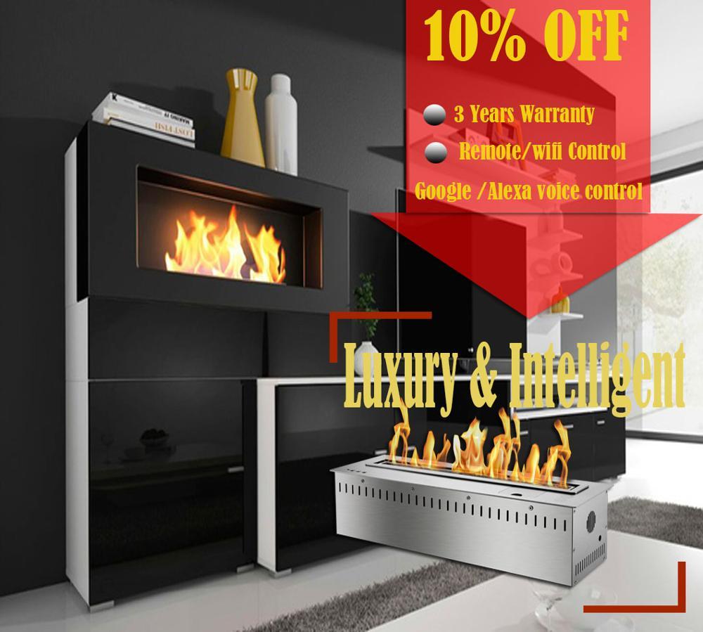 On Sale  18 Inch Bio Ethanol Insert Fireplace Gel Fuel Burner With Remote Control