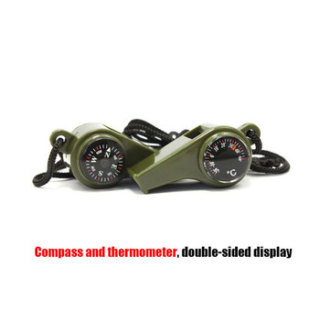 3 In 1 Compass Thermometer Survival Whistle Outdoor Military Tactical Multi Tool Emergency Equipment Camping Hiking Hunting Gear 3