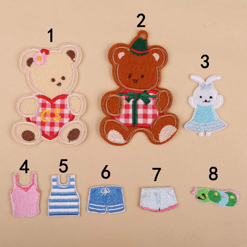 DIY Embroidery Cloth Sticker Embroidery Chapter Baby Cartoon Cute Teddy Bear Clothes Decoration Embroidery Patch Sticker