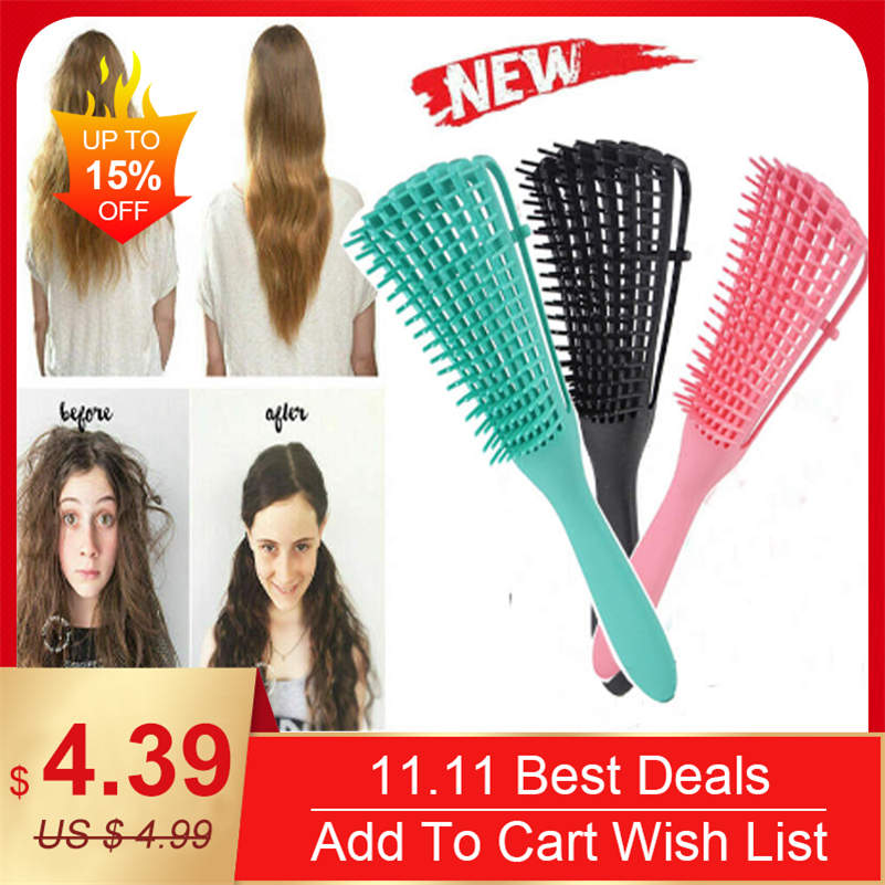 The EZ Detangler Hair Brush Comb Anti-Static Scalp Comb Hair Brush Styling Tools
