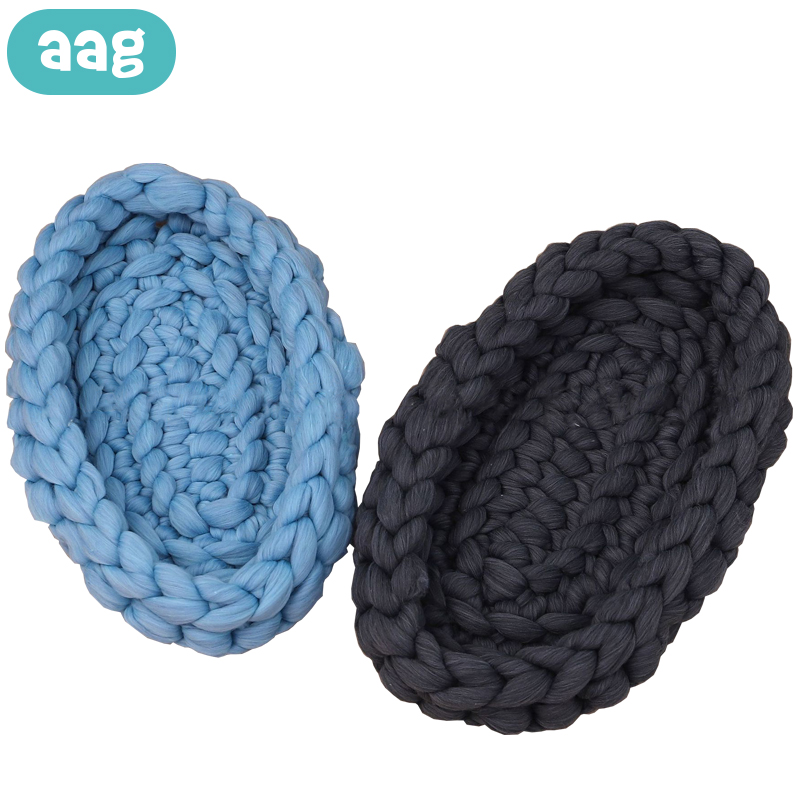 AAG Nordic Knitted Baby Nest Bed Cradle For Newborns Travel Cot Crib Babynest Cribs Infant Baby Bumper Photography Accessories