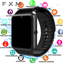 FXM Bluetooth Smart Watch Men for Iphone Phone for Huawei Samsung Android Support 2G SIM TF Card Camera Digital watch Men