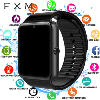 цена на FXM Bluetooth Smart Watch Men for Iphone Phone for Huawei Samsung Android Support 2G SIM TF Card Camera Digital watch Men