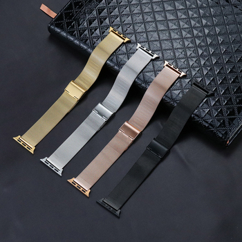 Watch Band for Apple Watch Replacement Stainless Steel Bracelet Mesh Strap 38mm 40mm for iwatch series 5/4/3/2/1 42mm 44mm replacement watch band for apple watch series 4 1 3 2 band bracelet strap for iwatch 42mm 38mm 40mm 44mm stainless metal band