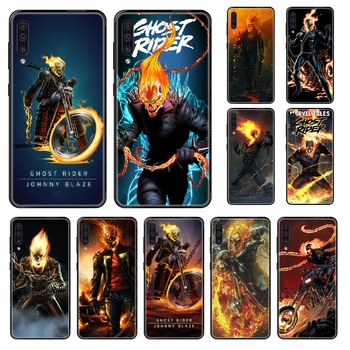Movie Ghost Rider Phone case For Samsung Galaxy A 3 5 8 9 10 20 30 40 50 70 E S Plus 2016 2017 2018 2019 black tpu funda soft image
