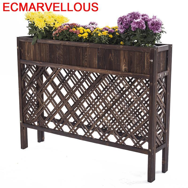 Wood Huerto Urbano Madera Etagere Plante Estante Para Flores Table Dekoration Rack Balcony Shelf Outdoor Flower Plant Stand
