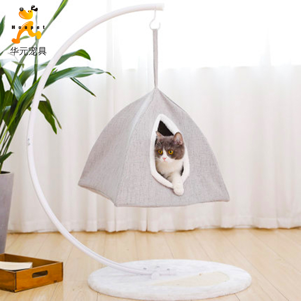 Cat Climbing Frame Basket-Sway Cat Nest Cat Teaser Toy Cat Scratch Trees Small Cat Climbing Frame Gato Negro Jia Zi Pet Cat Toy