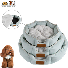 SUPREPET Pet Dog Beds for Small Large Dogs Soft Warm Fleece Cotton Dog Bed Mat Kennel Plush Cozy Nest Dog House Pad cama perro