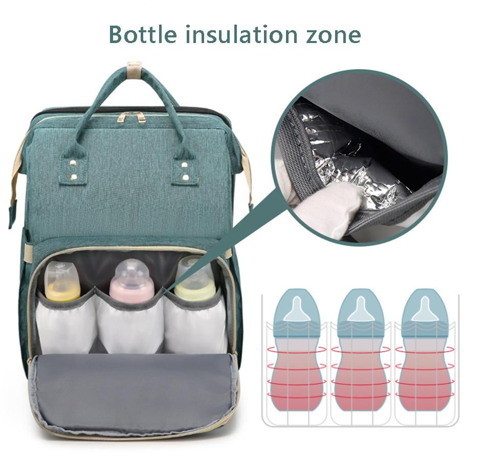 Traval Diaper Bag Moms and Dads Backpack Multifunctional Baby Bed Bags Maternity Nursing Handbag Stroller Bag Dropshipping