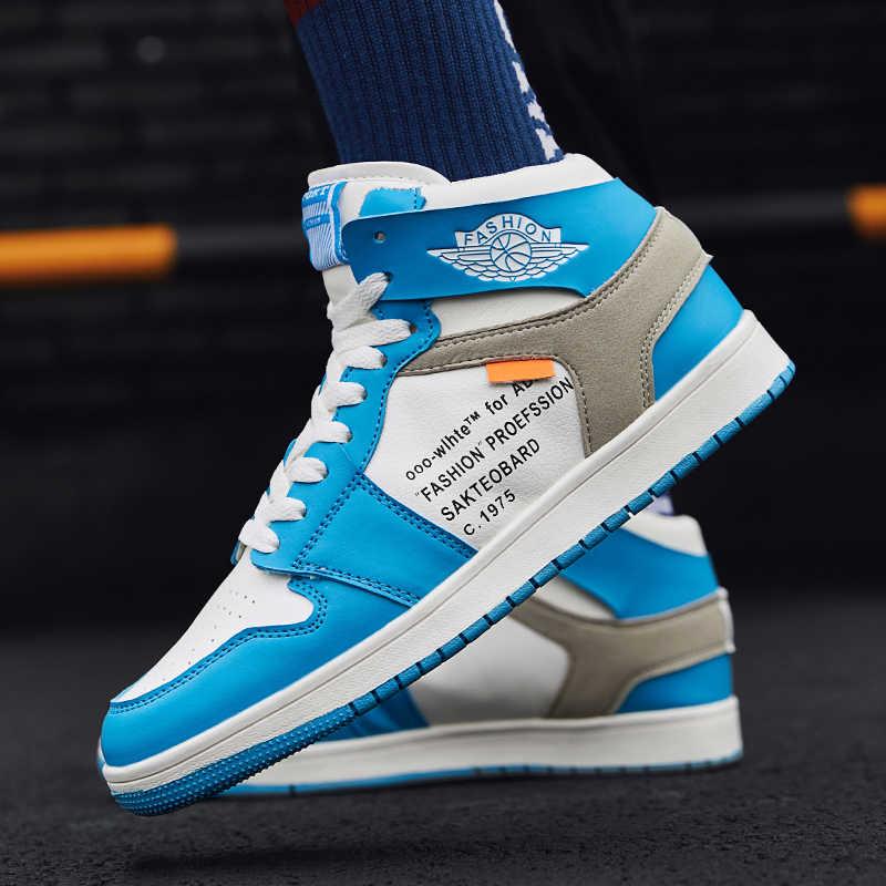 OLOME yüksek yardım gündelik erkek ayakkabısı hafif nefes dayanıklı erkek Sneakers açık ayak ayakkabı Zapatos Casuales