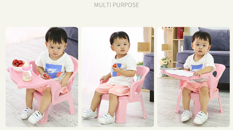 Baby Dinner Table Dining-chair Cartoon Seat Plastic Stool Small Bench Chair For Children Table And Chair Kids Table And Chair