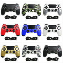 Kablosuz Bluetooth Gamepad uzaktan kumanda PS4 oyun denetleyicisi titreşim Joystick oyun klavyeler için PS 3 konsol WIN 7 8 10 adet