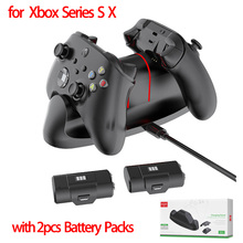 Fast Charger For XBOX ONE/Xbox Series S X Controller Gamepad Charging Dock + 2pcs Rechargeable Battery Packs For XBOX