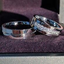 Модные кольца из титана для мужчин и женщин ювелирные изделия