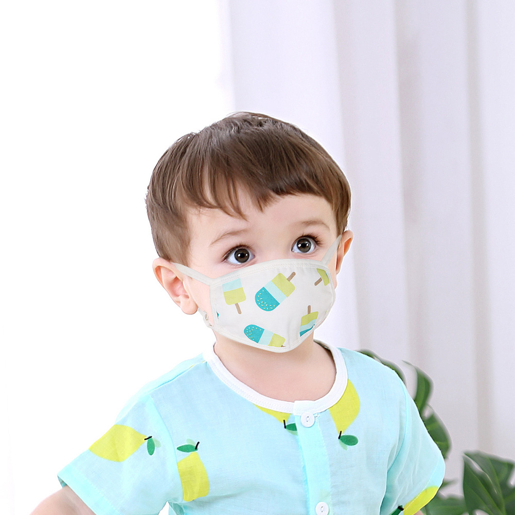PM2.5 Filter  Face Mask 6 Layers Mask Children Mouth Mask Baby Face Cotton Masks Masks Anti-Dust Smoke Soft And Comfortable
