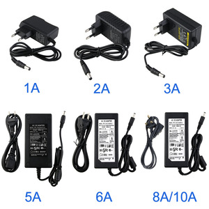 DC12V 1/2/3/5/6/8/10ASwitch Power Supply Adapter For LED Strip 12V 5.5mmx2.5mm Output Lighting Transforme Adaptor 12W-120W(China)