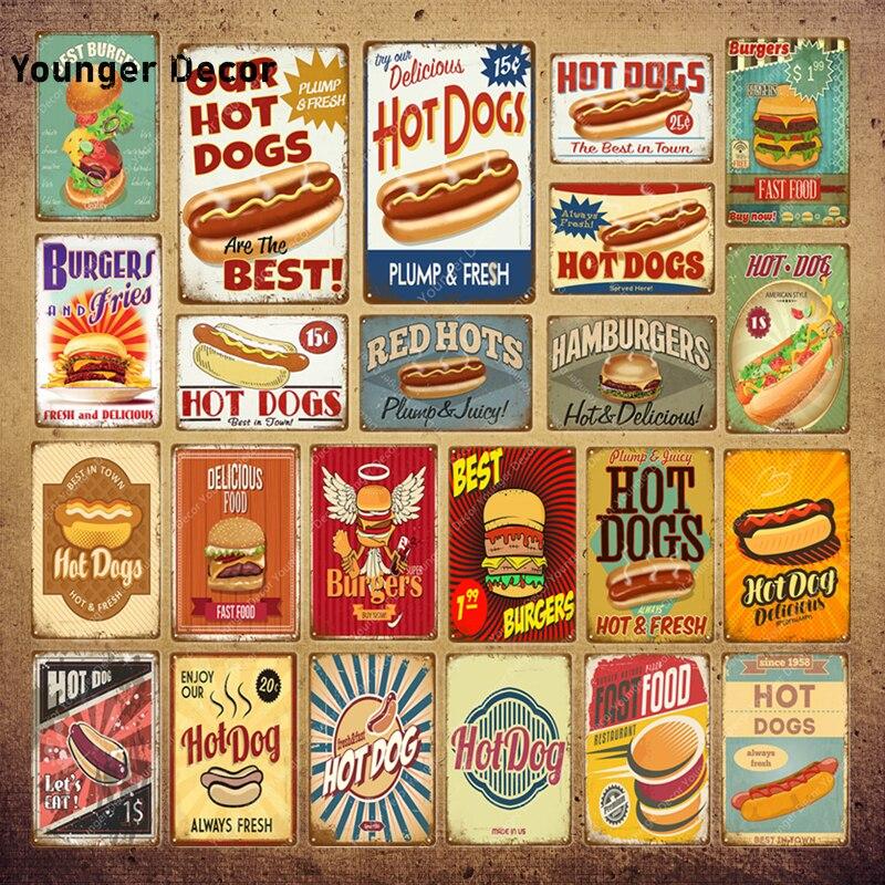 Vintage Style Retro Metal Cartel De Pared Arte Decoración hogar Imagen De Cocina De Placa De Alimentos