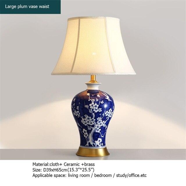 Купить oufula латунные настольные лампы синий керамический настольный картинки цена