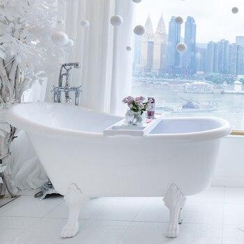 Só vender 4 pçs/set (2 grande e 2 pequeno) pé banheira pé pés de metal branco banheira acessórios de alta qualidade latão banheira pé