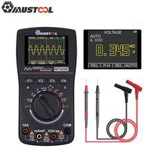 Atualizado mustool mt8208 2 em 1 hd multímetro digital inteligente gráfico osciloscópio 2.5msps taxa de amostragem teste eletrônico