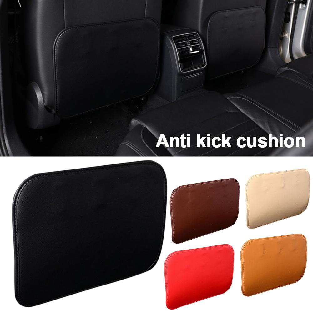 Leather Car Seat Back Protector Cover For Children Kids Anti Kick Protective Pad