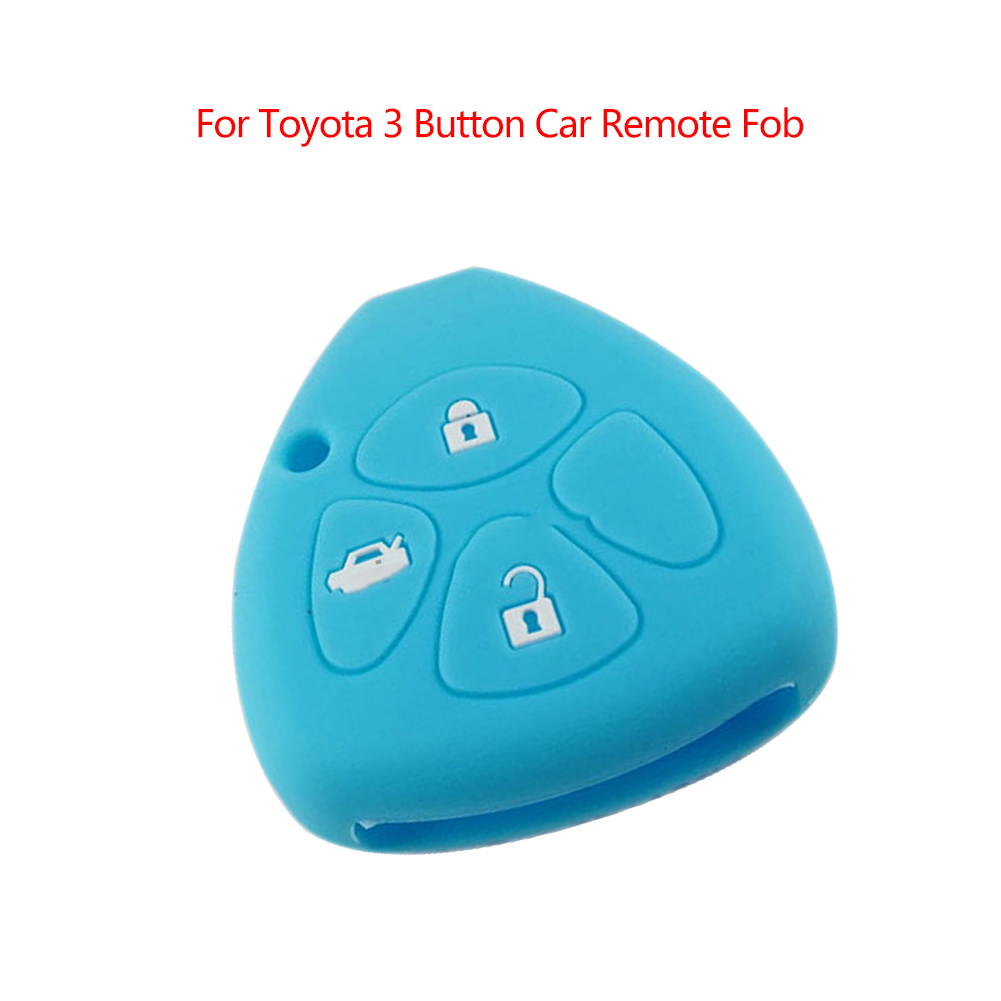 Remote <font><b>Key</b></font> Case Fob 3Btn 4Btn Silicone Cover Skin Holder Shell Fit For <font><b>Toyo</b></font> image