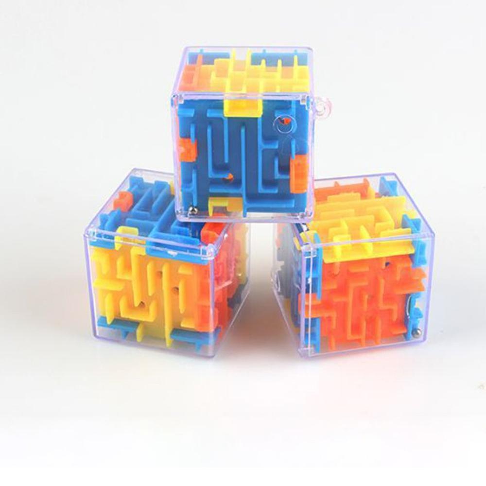 Новинка 2019, маленький трехмерный лабиринт, магический лабиринт, Универсальный 3D Детский Интеллектуальный лабиринт, развивающие игрушки, по...