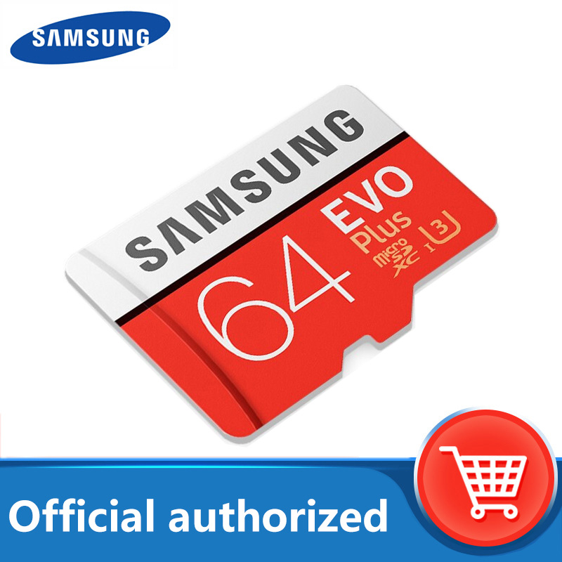 Samsung EVO PLUS Micro sd card 32GB 64GB 128GB 256GB Memory Card UHS I 100M / s Class10 U3 TF card SDHC SDXC With card reader|Micro SD Cards| |  - title=