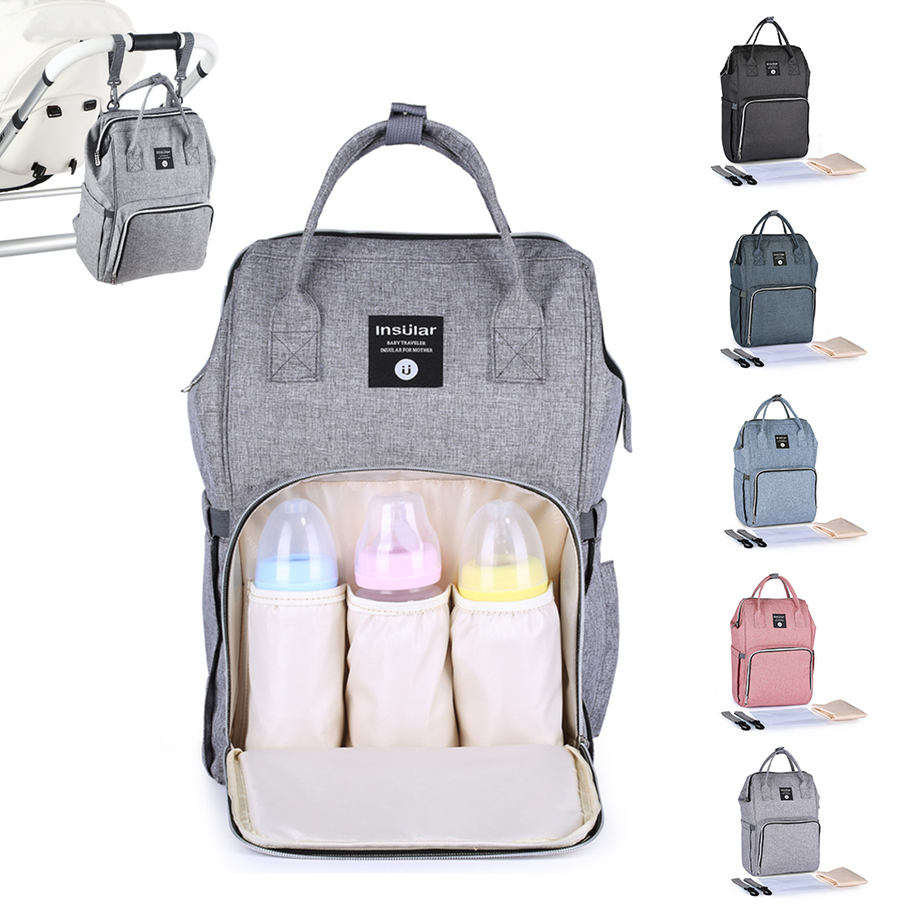 Insular Baby Diaper Bag baby bags for mom Large Capacity Waterproof Stroller Backpack maternity bag mommy Nursing Diaper Bags